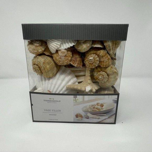 1.8lbs Unscented Shells Vase Filler Ivory/Brown